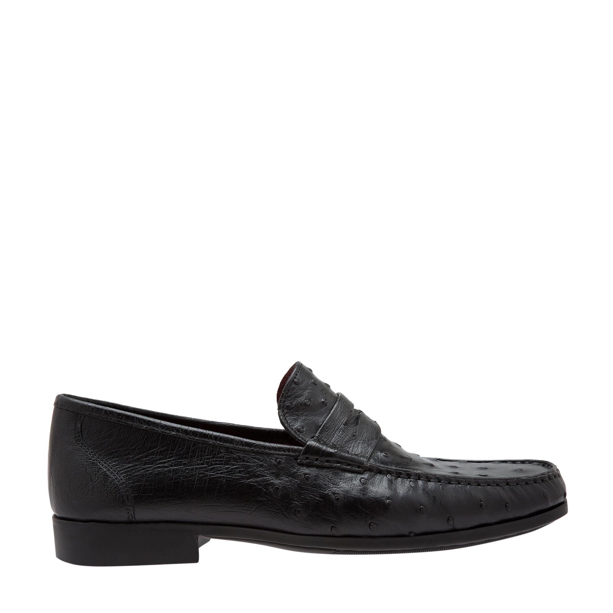 """حذاء """"أوستريتش"""" مسطح دون أربطة"""