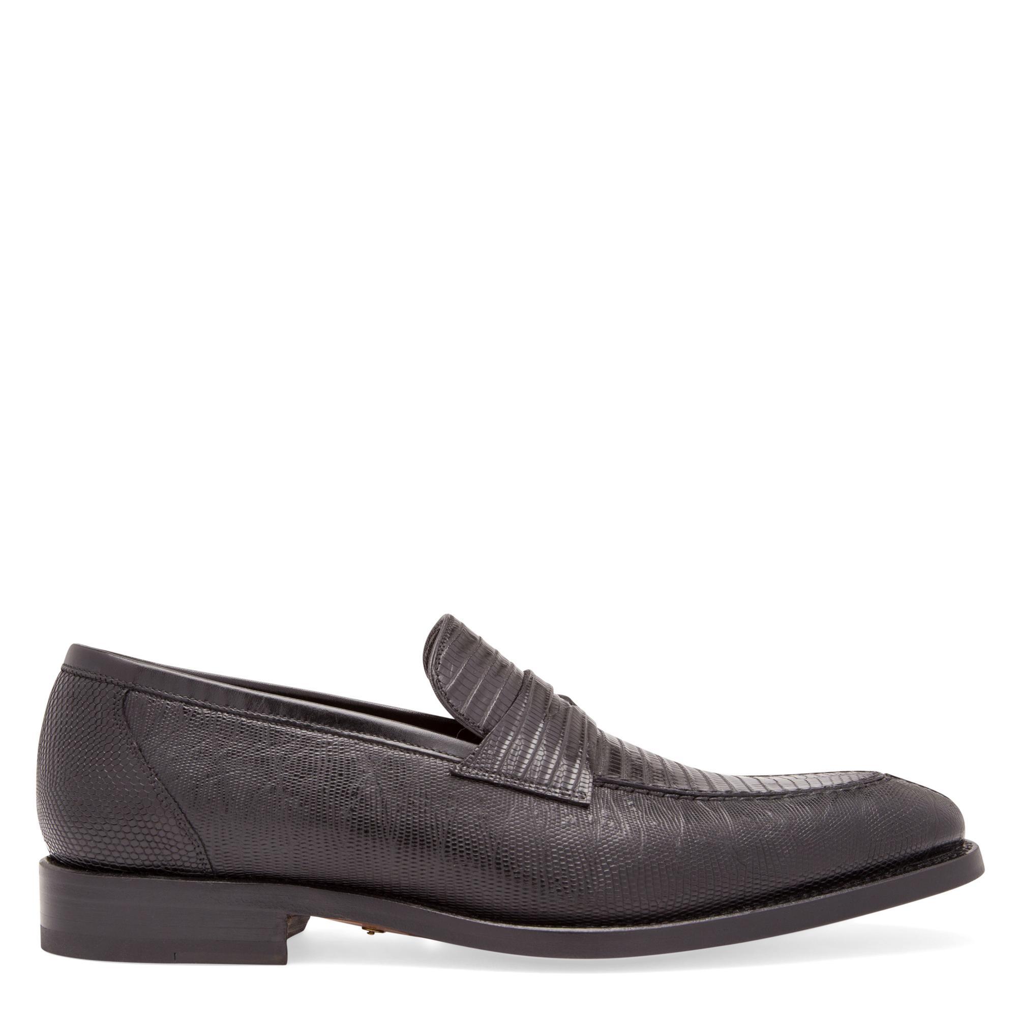"""حذاء """"ليزارد"""" من طراز أكسفورد مزود بالأربطة"""