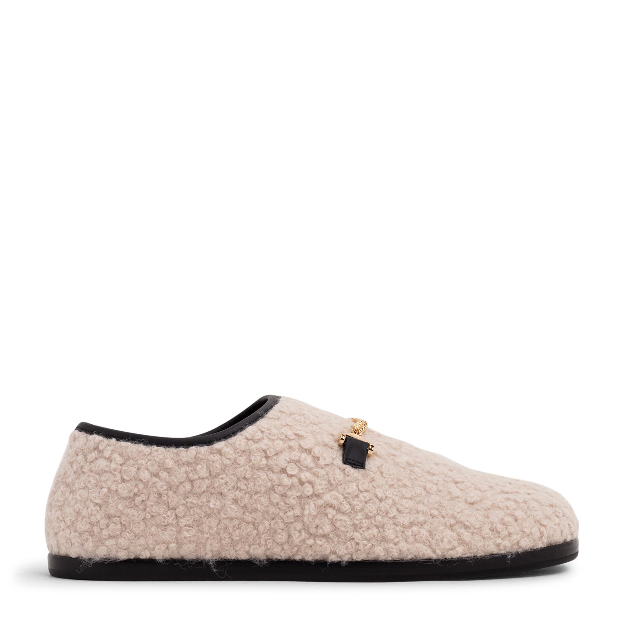 حذاء سلاي المسطح من الصوف